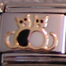 two cats charm cat charms by BZ