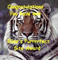 Elise's Purrrfect Site Award
