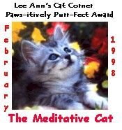 paws-itevly purr-fect award