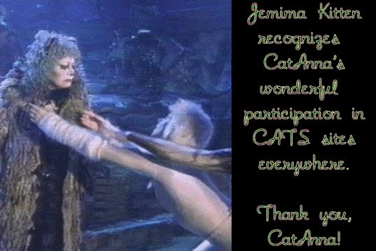 Special award from Jemima Kitten