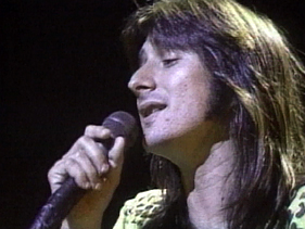 Steve Perry onstage with Journey